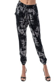 Ariella USA Tie Dye Ruched Bottom Joggers - Front cropped
