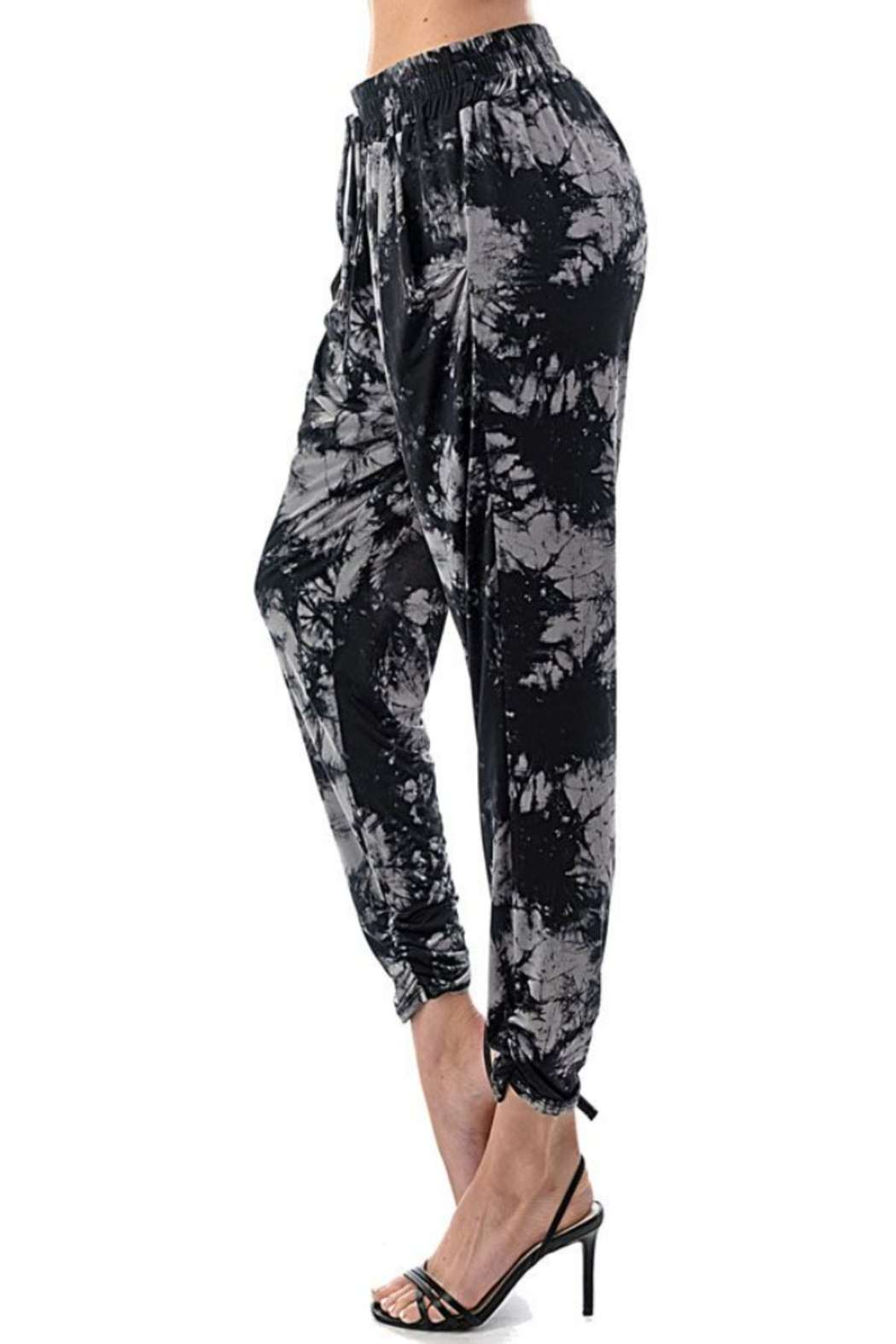 Ariella USA Tie Dye Ruched Bottom Joggers - Side Cropped Image