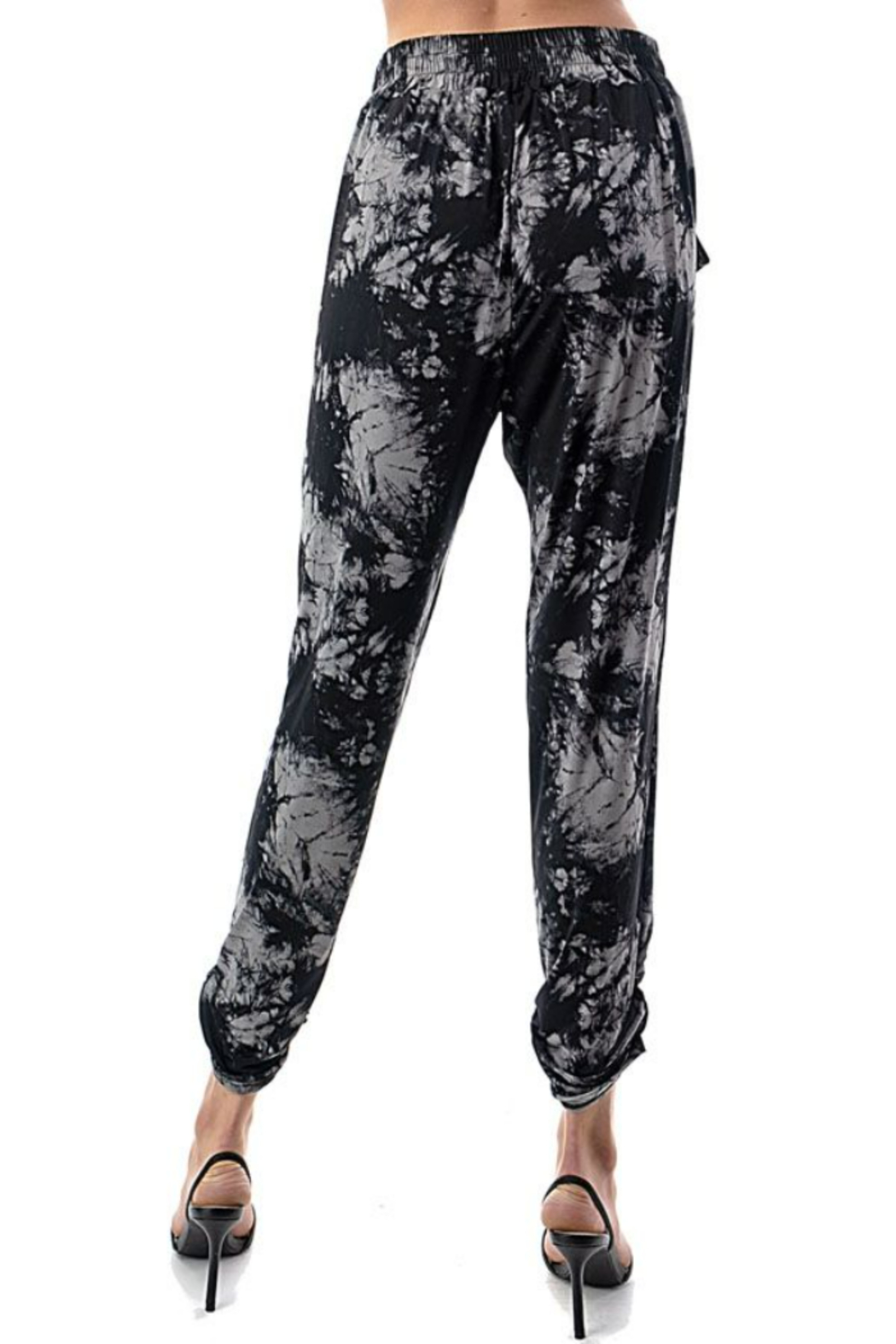 Ariella USA Tie Dye Ruched Bottom Joggers - Back Cropped Image