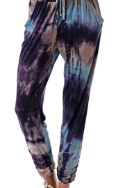 Ariella Tie-Dye Ruched Jogger - Product Mini Image