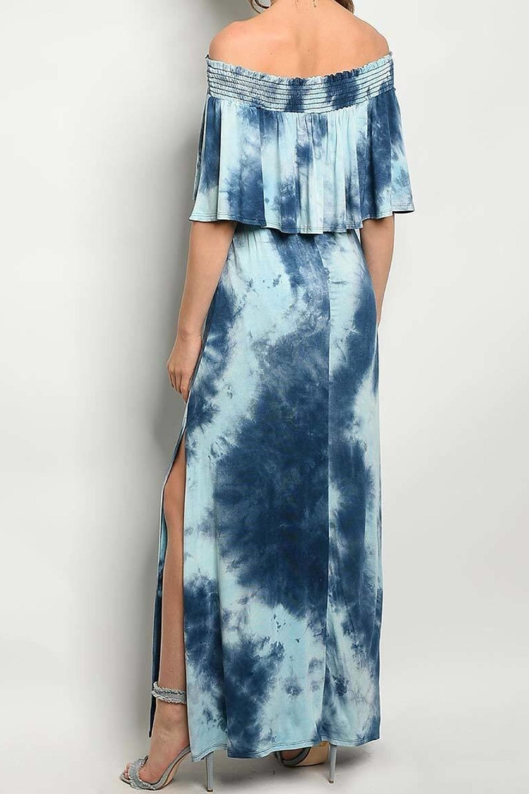 No Label  Tie-Dye Ruffled Dress - Front Full Image