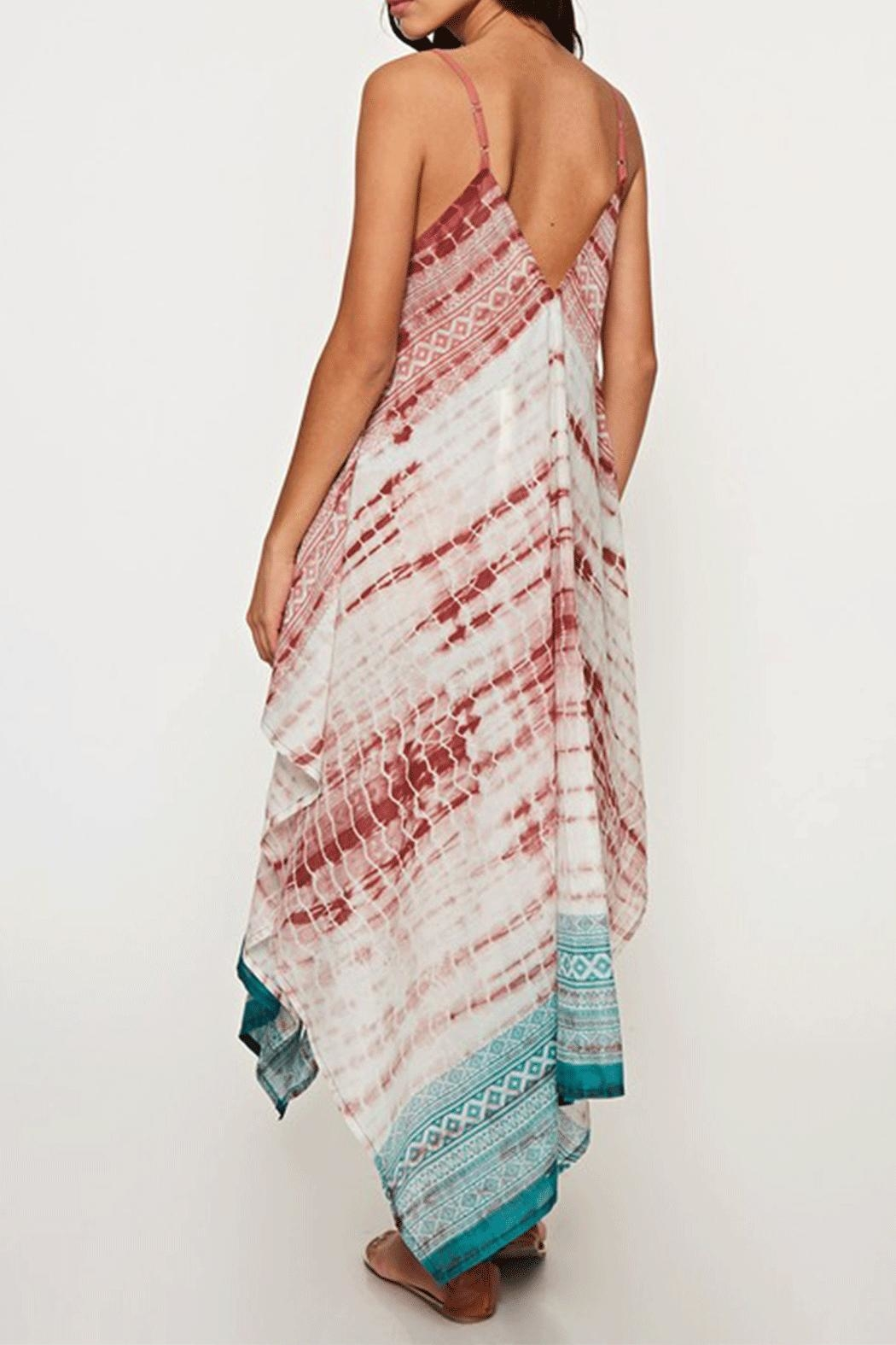 Ambiance Tie-Dye Scarf Dress - Front Full Image