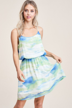 Staccato Tie Dye Scoop Neck Dress - Product List Image