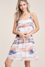 Staccato Tie Dye Scoop Neck Dress - Product Mini Image