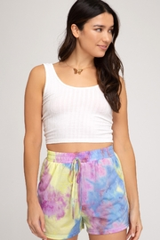 She + Sky Tie Dye Short - Product Mini Image
