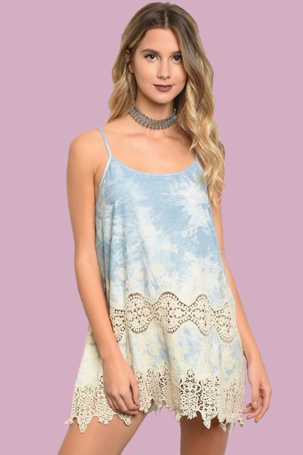 People Outfitter Tie-Dye Short Dress - Main Image