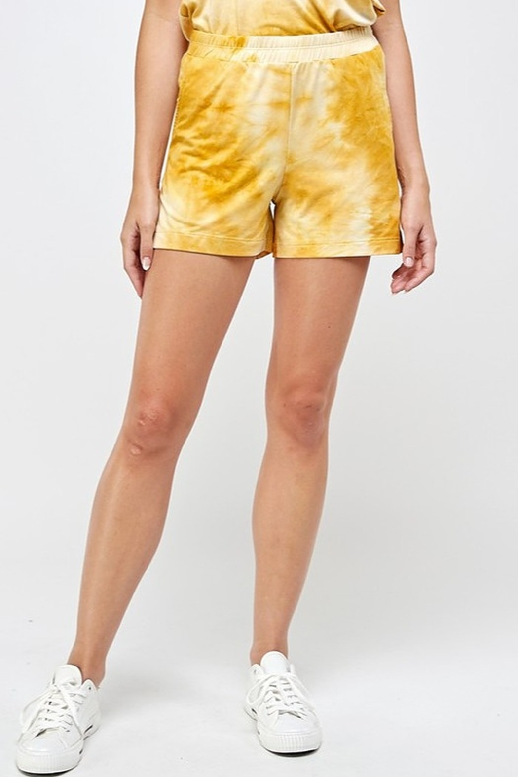 If She Loves Tie Dye Short - Front Cropped Image
