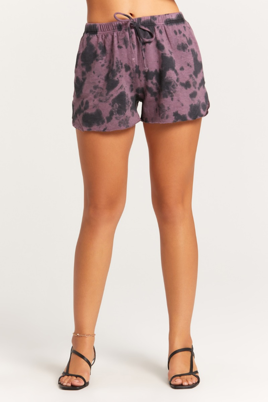 Olivaceous  Tie Dye Shorts - Main Image