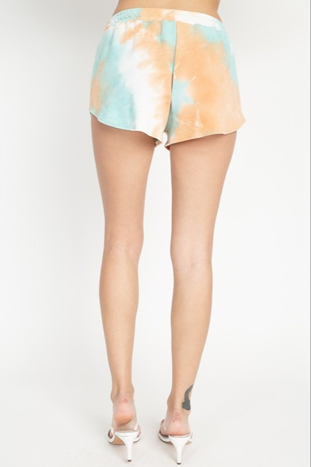 Fore Collection Tie Dye Shorts - Back Cropped Image