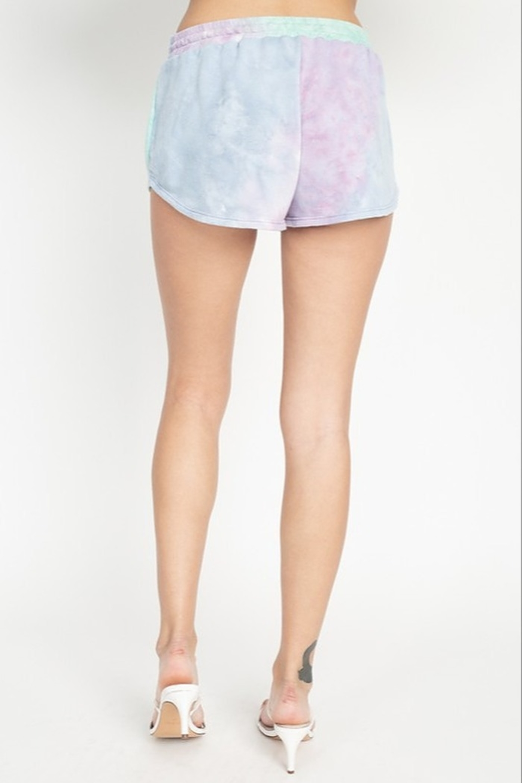 Fore Collection Tie Dye Shorts - Side Cropped Image