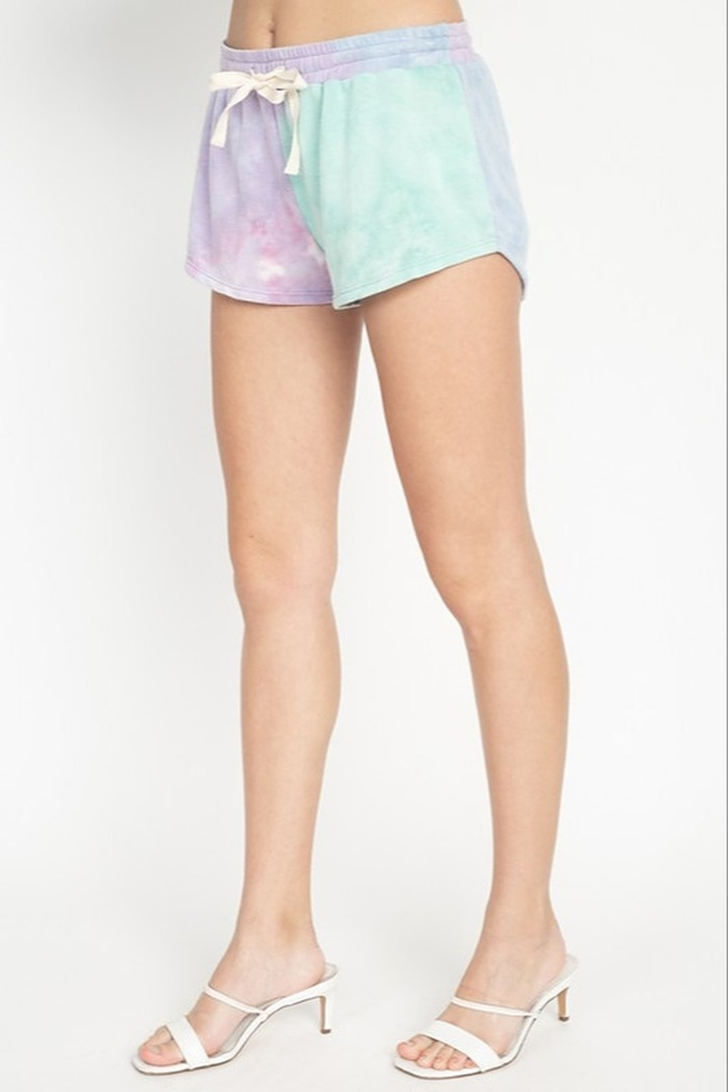 Fore Collection Tie Dye Shorts - Front Full Image