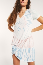 z supply Tie Dye Side Knot Dress - Product Mini Image