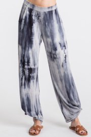 Urban Chic Tie Dye Side Slit Pants - Front cropped