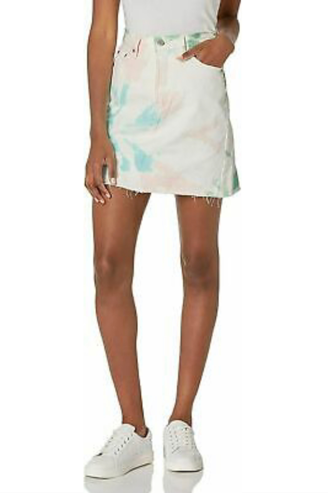 Levis Tie Dye Skirt - Side Cropped Image