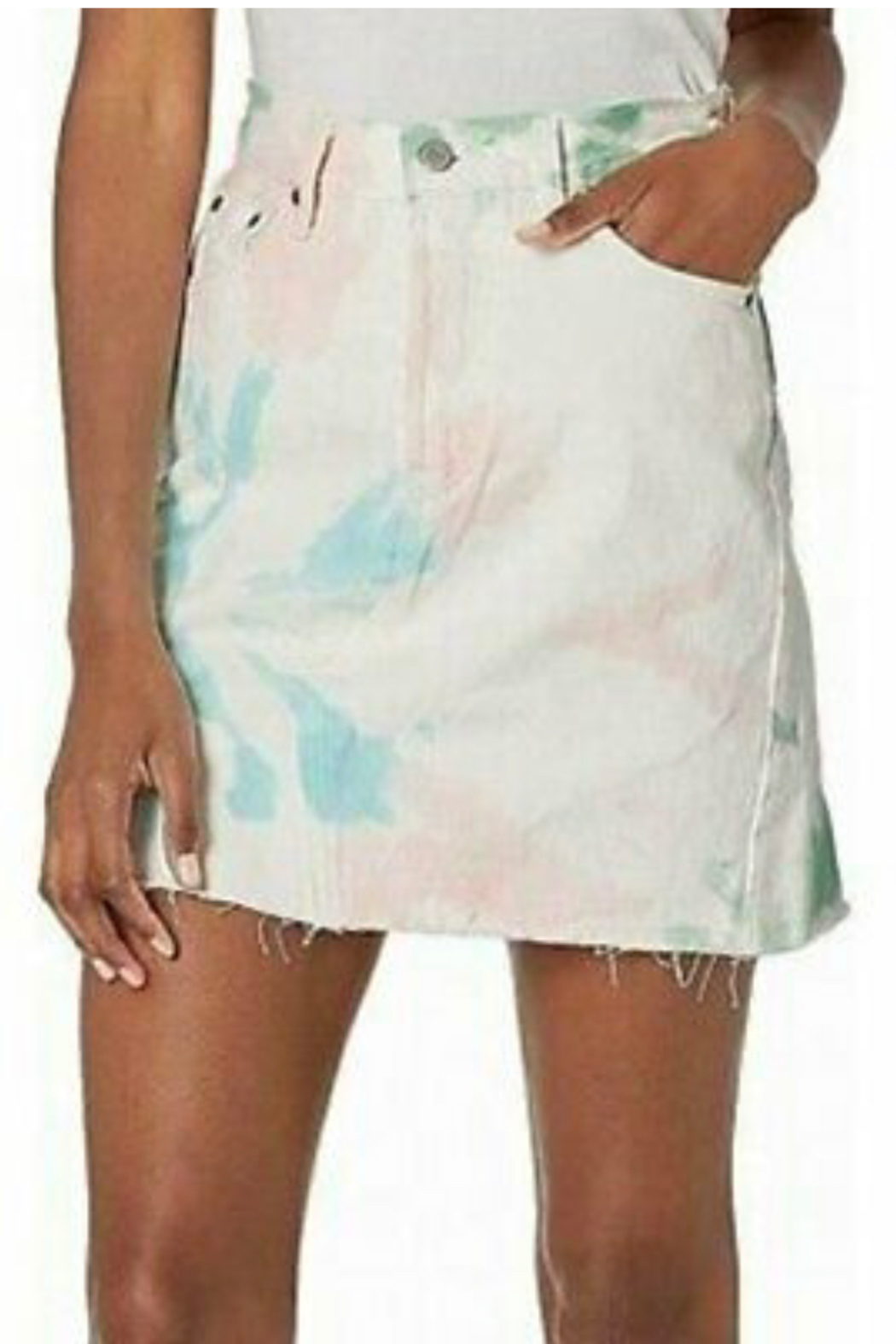 Levis Tie Dye Skirt - Front Cropped Image