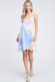 Olivaceous  Tie Dye Slip Dress - Back cropped