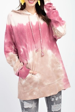 Shoptiques Product: Tie-Dye Slouchy Hoodie