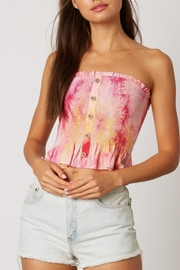 Cotton Candy LA Tie-Dye Smocked Top - Front cropped