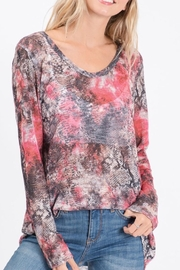 Bibi Tie Dye Snakeskin Top - Product Mini Image