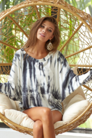 Bibi Tie Dye Soft Top with Contrast Cuffs with Thumb - Product Mini Image
