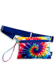 Top Trenz Tie Dye Spiral Puffer 2 in 1 pouch/ belt bag - Product Mini Image