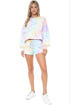 Shoptiques Product: Tie Dye Spiral Shorts