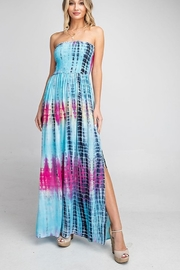 ee:some Tie Dye Strapless Maxi Dress - Product Mini Image