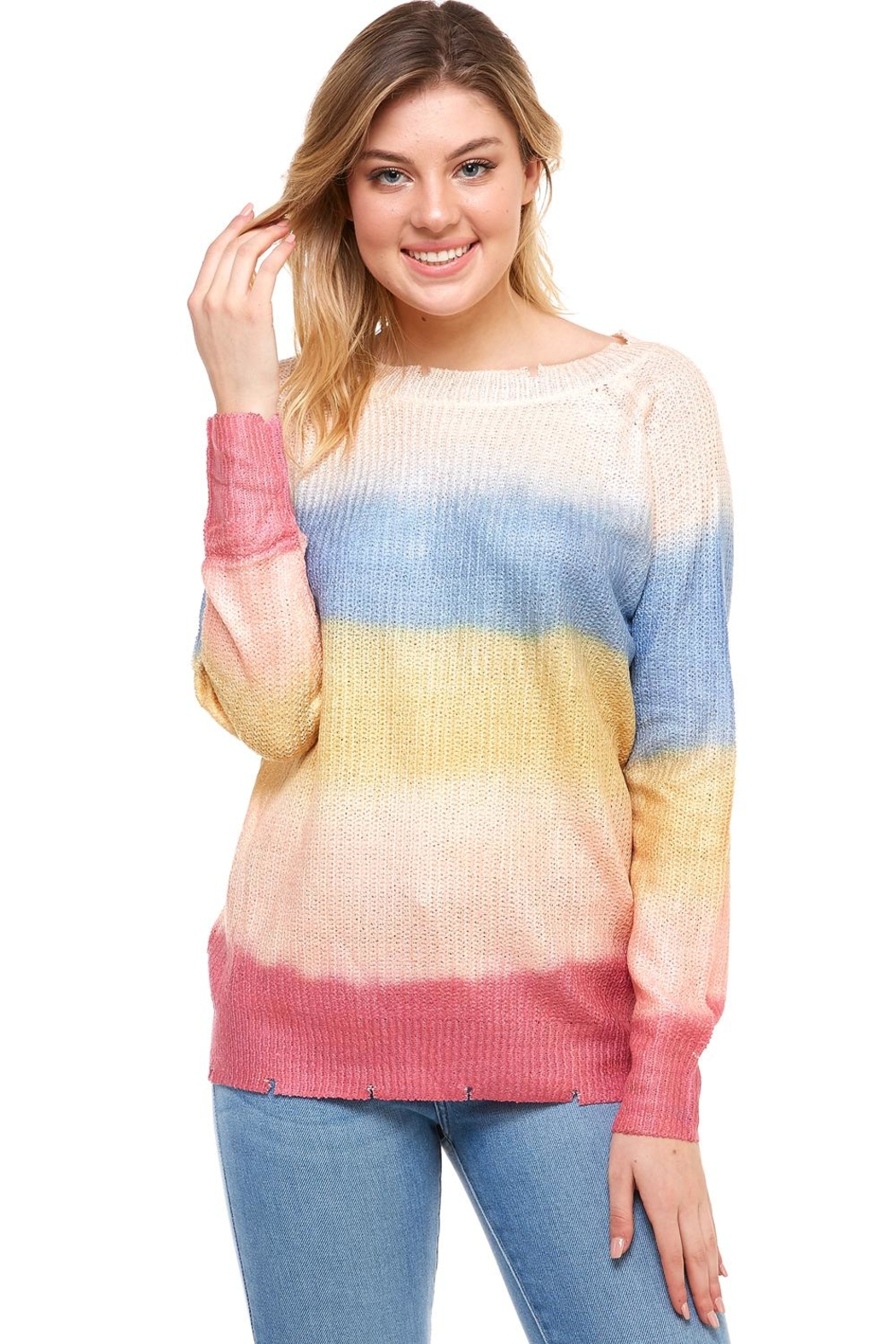 0382b3f7133cd AKAIV Tie Dye Sweater from New York by Dor L Dor — Shoptiques