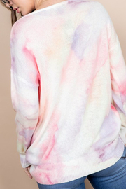 Blue B Tie Dye Sweater - Front full body