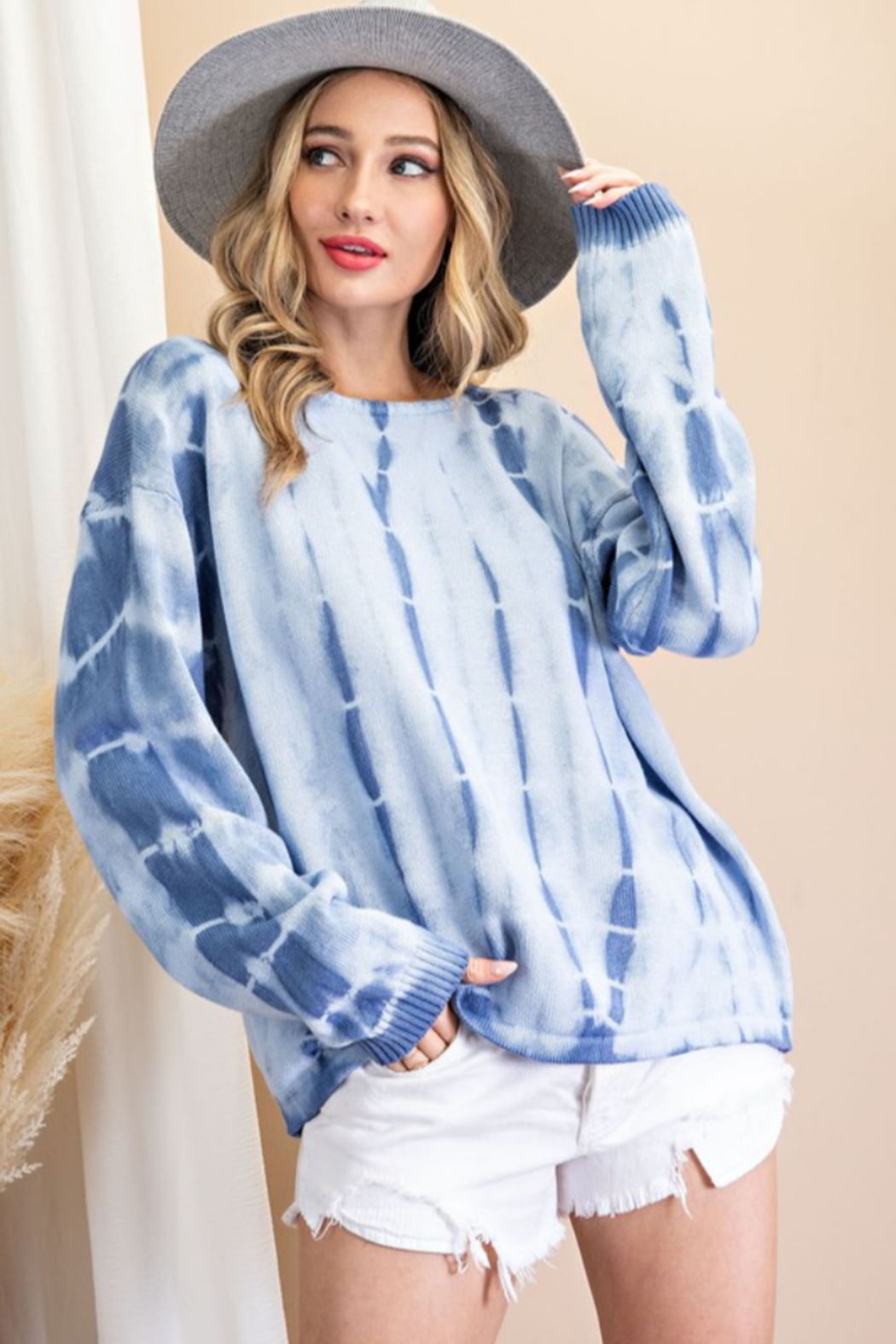 eesome Tie Dye Sweater - Front Full Image