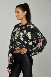 Noli Yoga Tie Dye Sweatshirt - Front full body