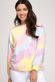 She + Sky Tie Dye Sweatshirt - Product Mini Image