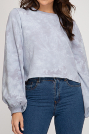 She and Sky Tie Dye Sweatshirt Top - Product Mini Image