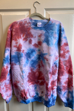 Bedford Basket Tie Dye Sweatshirts - Alternate List Image