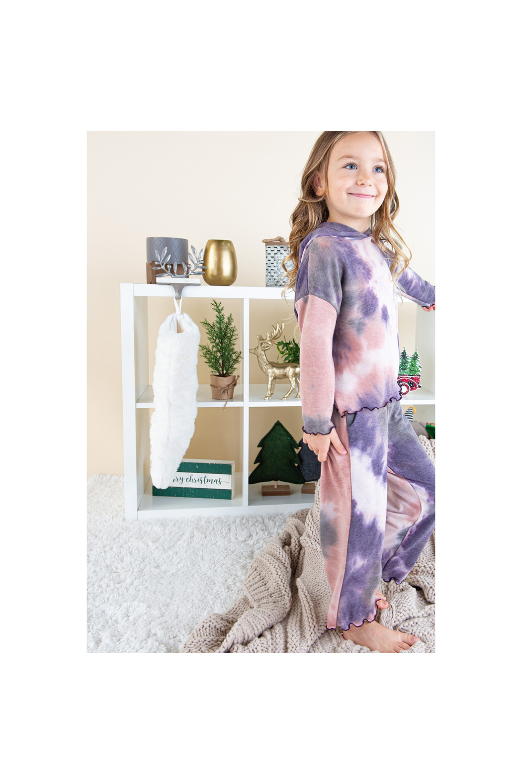 12pm by Mon Ami Tie Dye Sweatsuit - Front Full Image