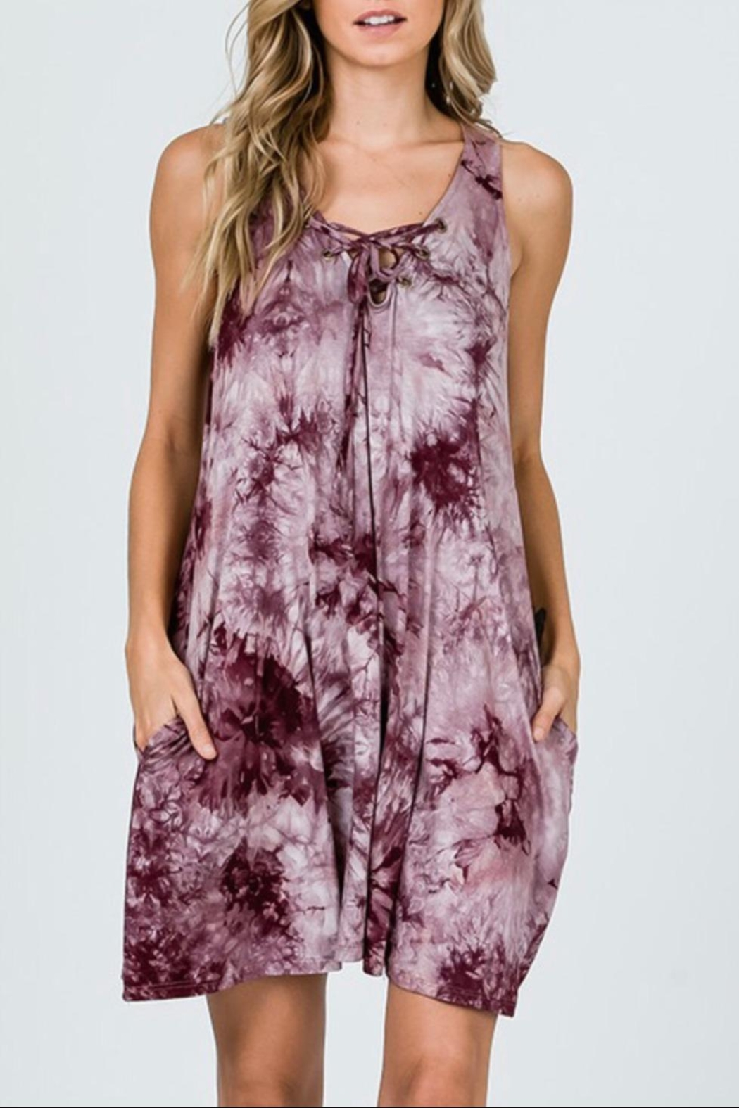 CY Fashion Tie-Dye Swing Dress - Main Image