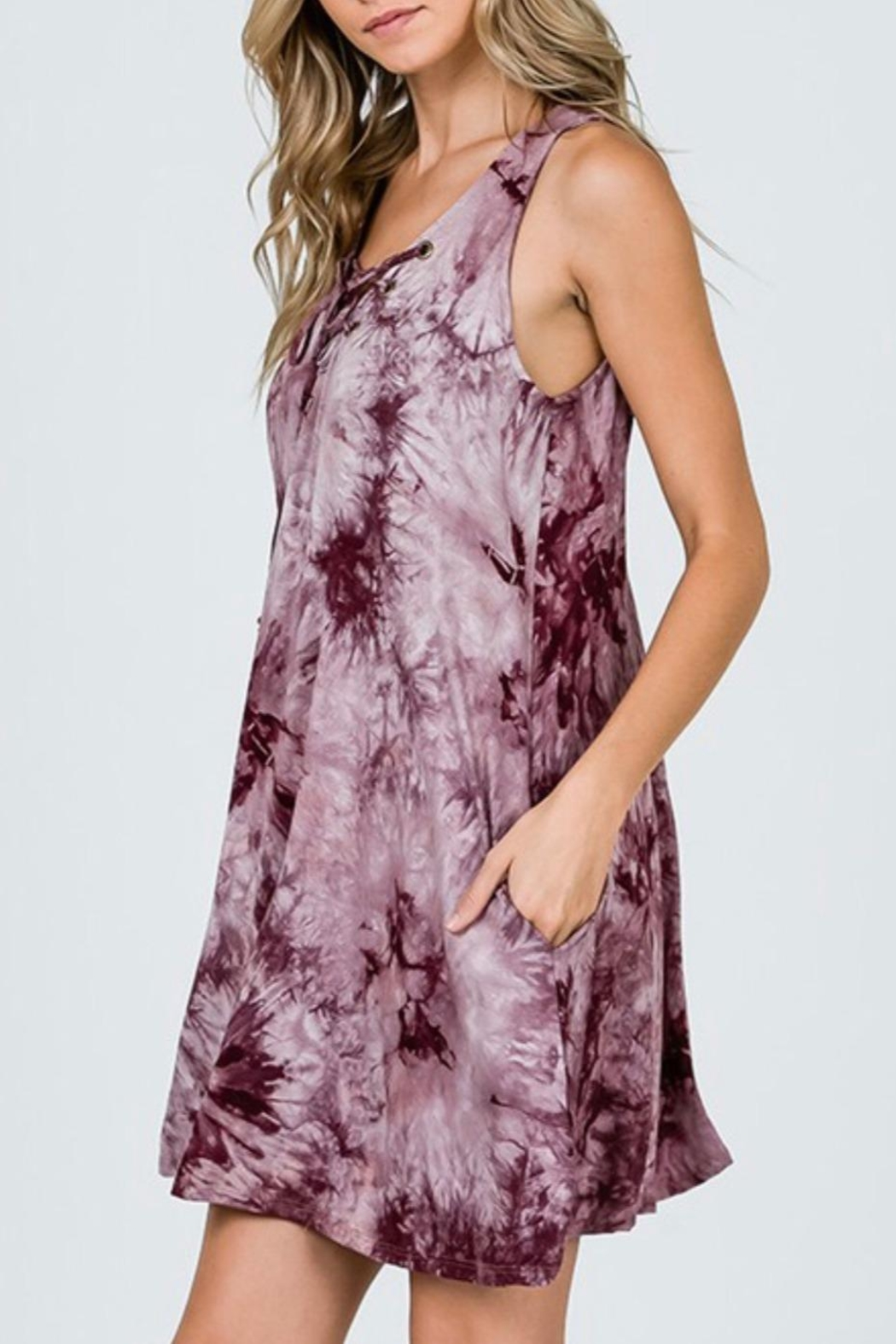 CY Fashion Tie-Dye Swing Dress - Front Full Image