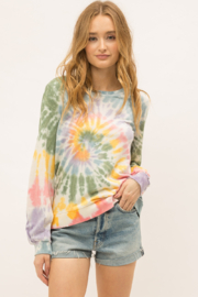 Mystree Tie Dye Swirl Sweatshirt - Product Mini Image