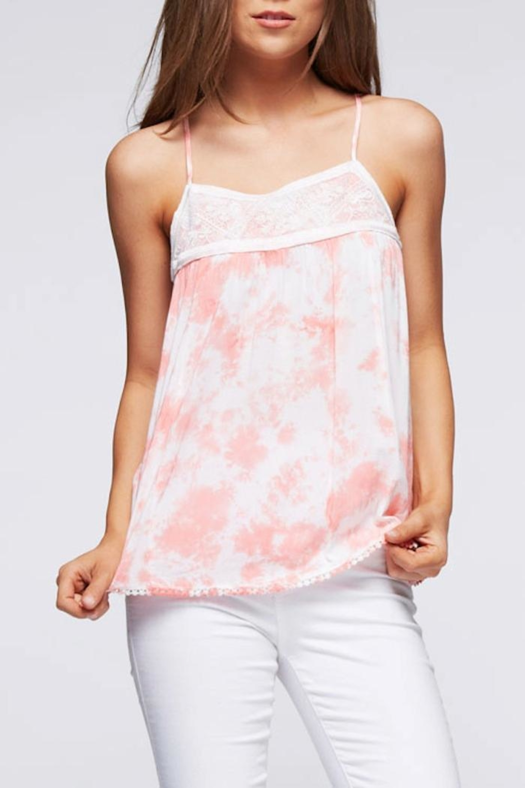 Andree Tie Dye Tank - Front Cropped Image
