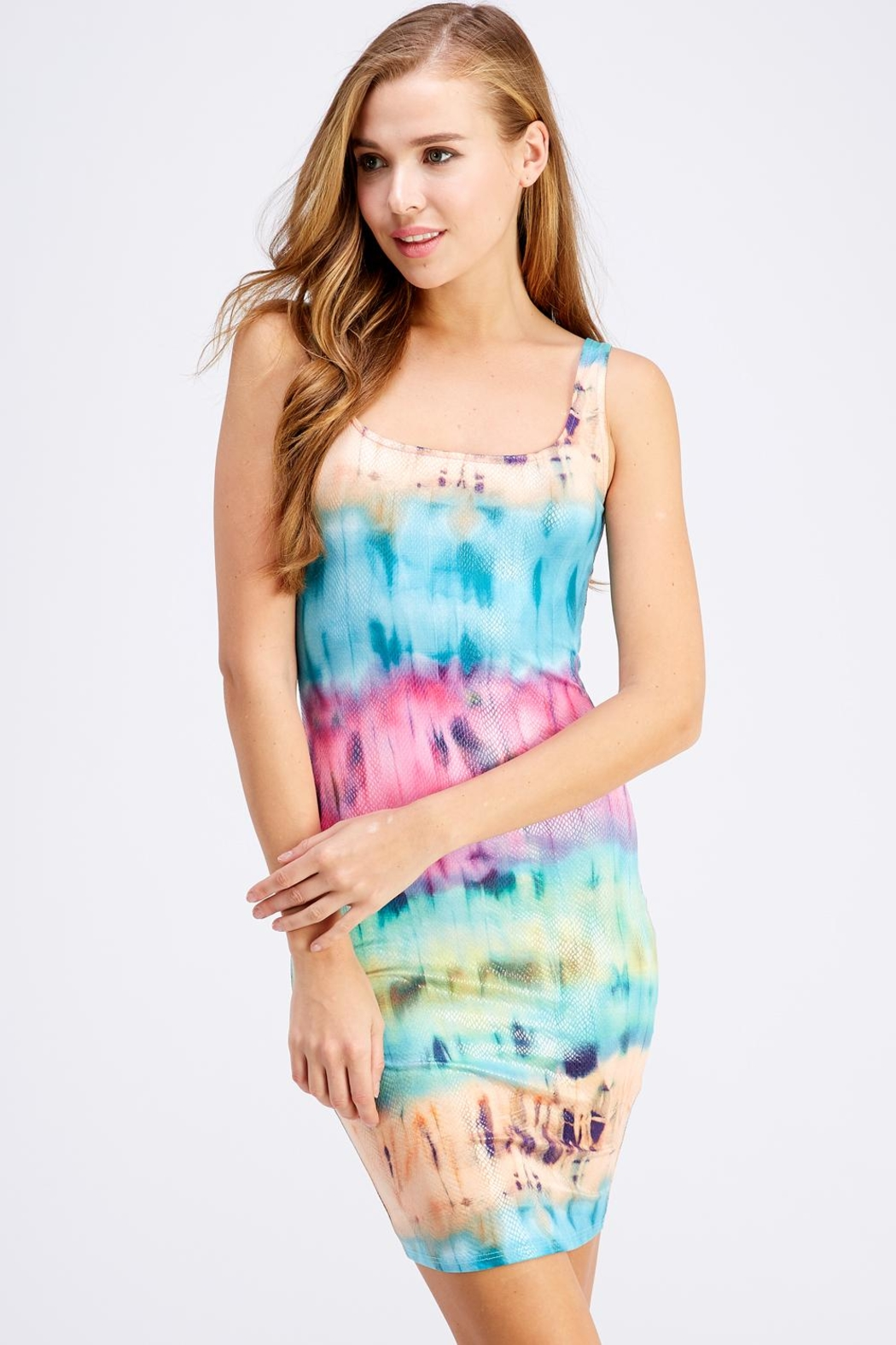 Hot & Delicious Tie-Dye Tank Dress - Main Image