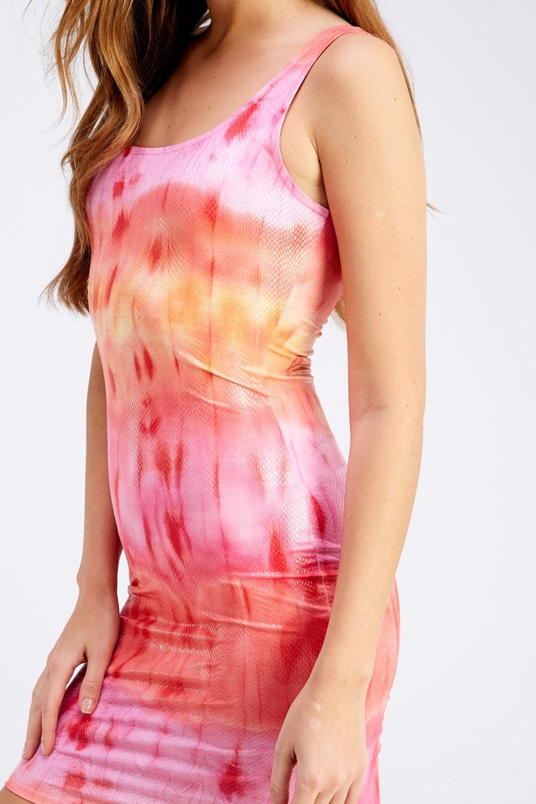 Hot & Delicious Tie-Dye Tank Dress - Back Cropped Image