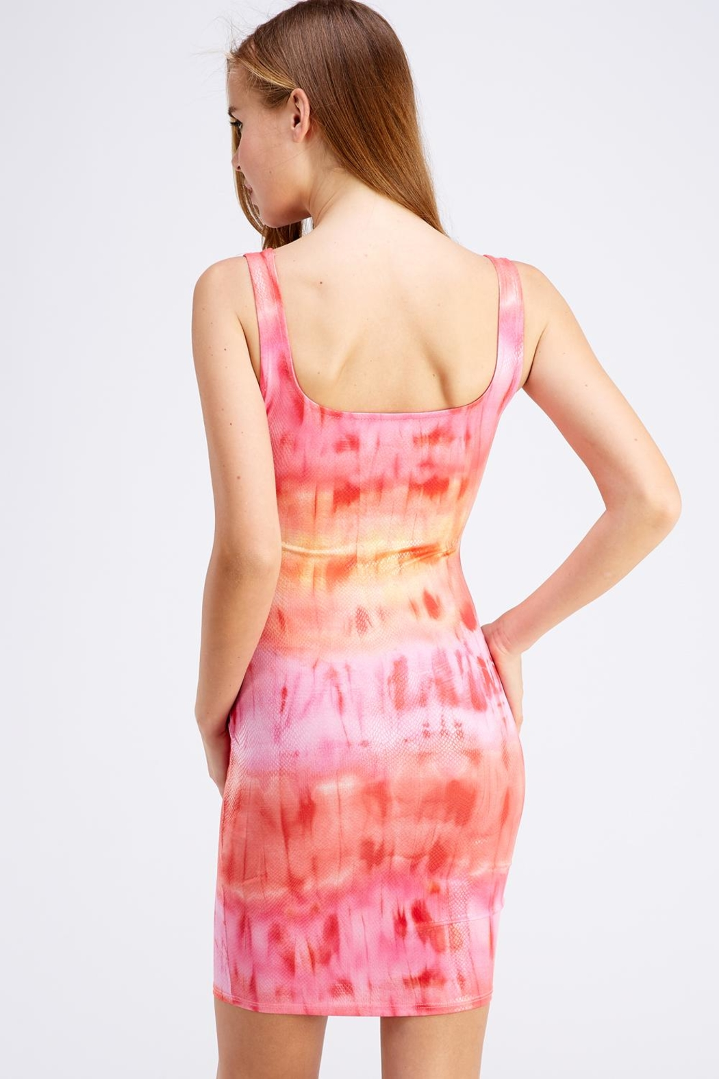 Hot & Delicious Tie-Dye Tank Dress - Side Cropped Image