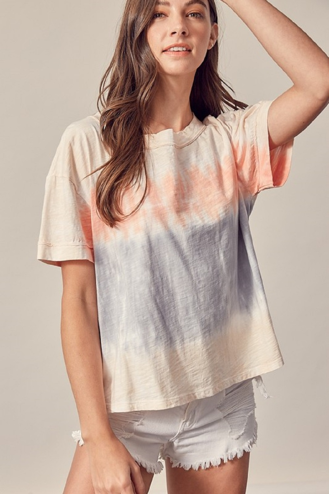 Mustard Seed  Tie Dye Tee - Front Cropped Image