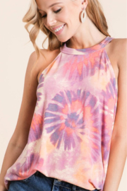 Bibi TIE DYE TERRY HALTER NECK TOP - Product Mini Image