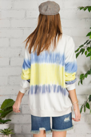 easel  Tie Dye Terry Sweatshirt - Front full body