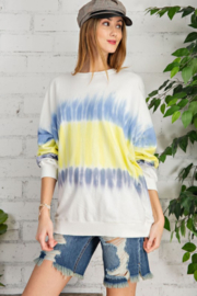easel  Tie Dye Terry Sweatshirt - Product Mini Image