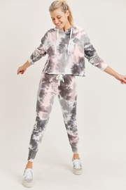 Mono B Tie Dye Textured Knit Lounge Set - Product Mini Image