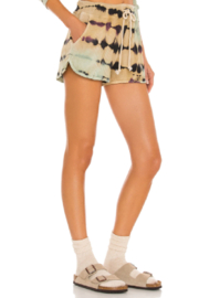 Daydreamer  Tie Dye Thermal Short - Front full body