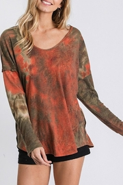 American Chic TIE DYE THERMAL TUNIC TOP - Product Mini Image