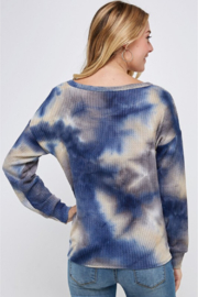 Able USA Tie Dye Tie Front Sweater - Front full body